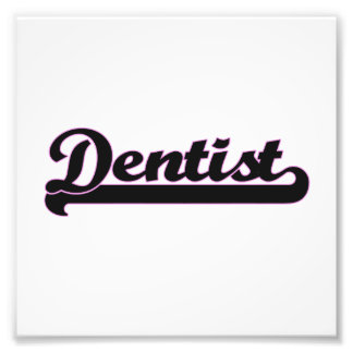 Dentist Classic Job Design Photograph