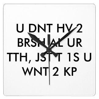 dentist clock text abbreviation cool teen wall