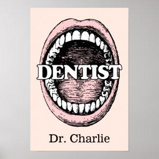 Dentist custom name & color poster