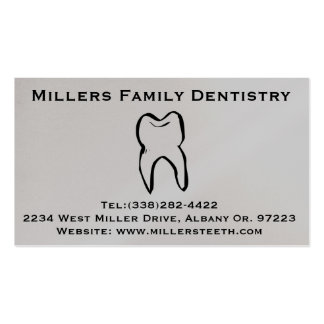 Dentist Dental Business and Appointment Card Pack Of Standard Business Cards