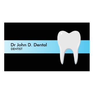 Dentist dental business card with tooth