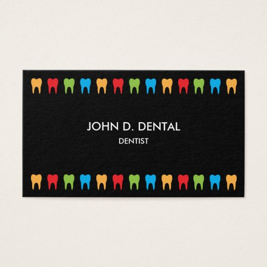 Dentist, dental business or profile card