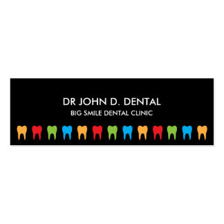 Dentist, dental business or profile card pack of skinny business cards