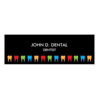 Dentist, dental business or profile card pack of skinny business cards