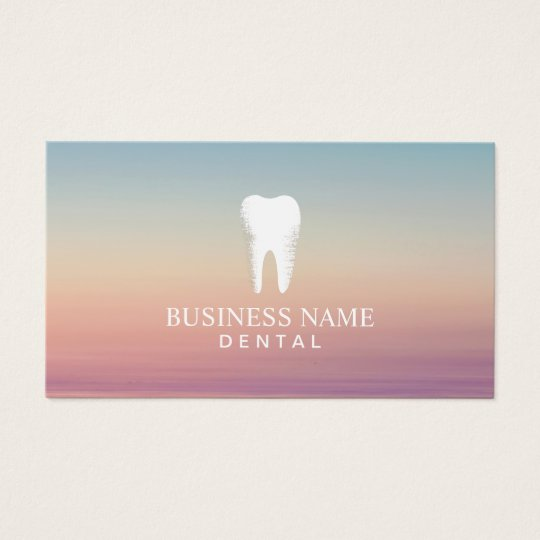 Dentist Dental Care Appointment Elegant Business Card