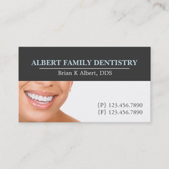 Dentist Dental Dentistry Doctor Smile Business Business Card