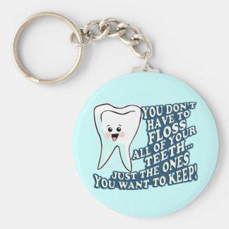 Dentist Dental Hygienist Basic Round Button Key Ring