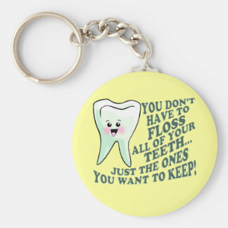 Dentist Dental Hygienist Basic Round Button Key Ring