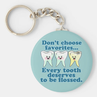 Dentist Dental Hygienist Dentistry Basic Round Button Key Ring