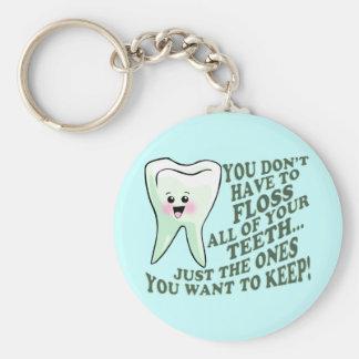 Dentist Dental Hygienist Humor Basic Round Button Key Ring