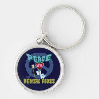 Dentist Dental Hygienist Silver-Colored Round Key Ring