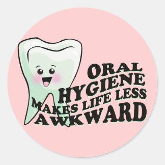 Dentist Dental Hygienist Orthodontist Classic Round Sticker