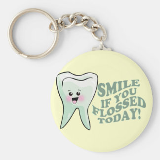 Dentist Dental Hygienist Orthodontist Periodontist Basic Round Button Key Ring