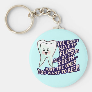 Dentist Dental Hygienist Periodontist Basic Round Button Key Ring