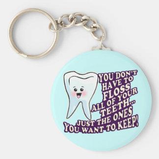 Dentist Dental Hygienist Periodontist Basic Round Button Key Ring