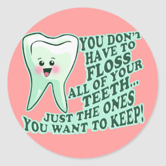 Dentist Dental Hygienist Round Stickers
