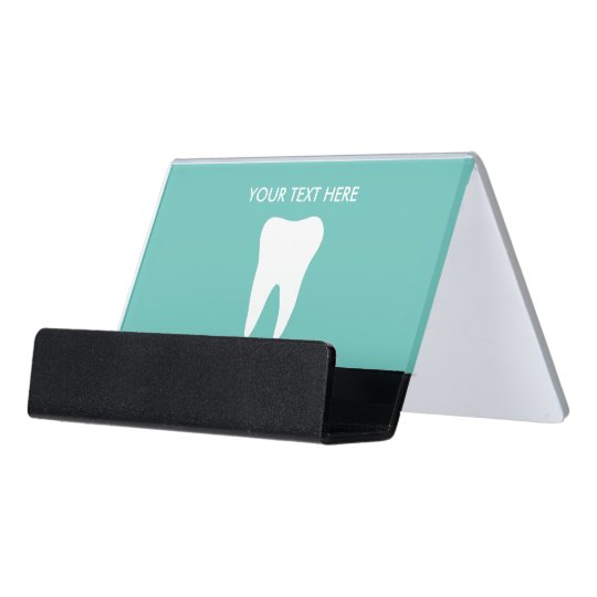 Dentist dental office desk business card holder