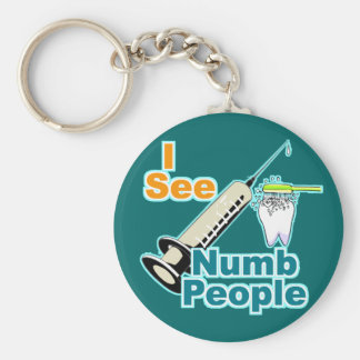 Dentist Dental Professional Basic Round Button Key Ring