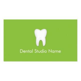 Dentist/Dental Studio Business Cards in Green