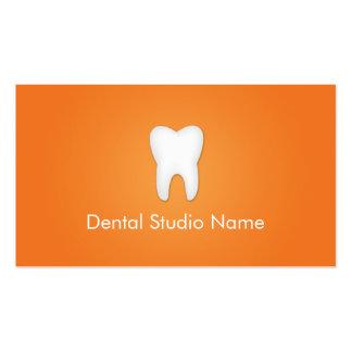 Dentist/Dental Studio Business Cards in Orange