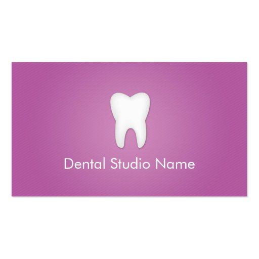 Dentist/Dental Studio Business Cards in Purple