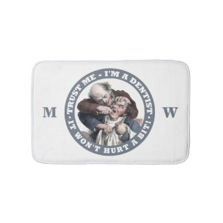 DENTIST humor custom monogram bath mats