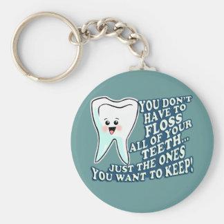 Dentist Hygienist Orthodontist Basic Round Button Key Ring