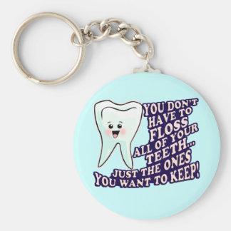 Dentist Hygienist Periodontist Basic Round Button Key Ring