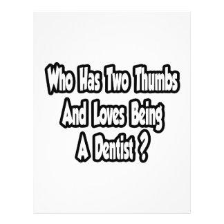 Dentist Joke...Two Thumbs 21.5 Cm X 28 Cm Flyer