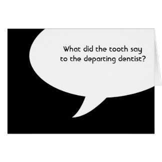 dentist jokes stationery note card