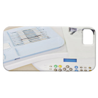 Dentist machinery, safety goggles and implements iPhone 5 case