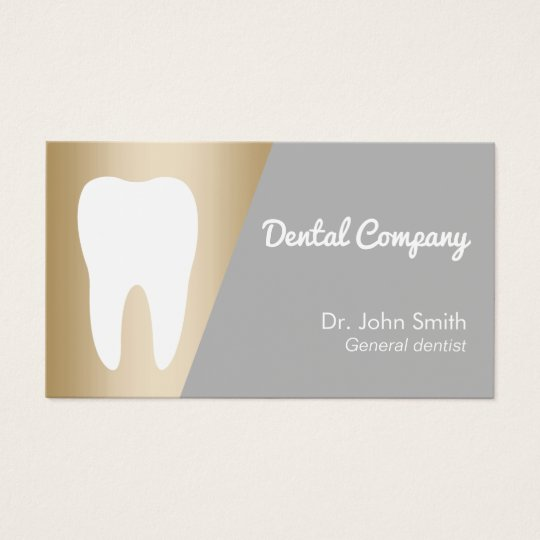 Dentist Modern Gold Dental Appointment Business Card