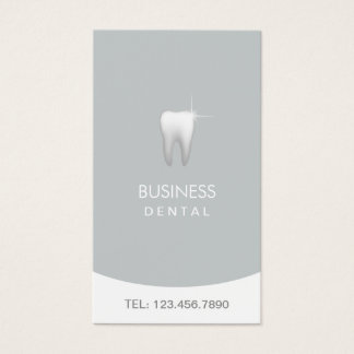 Dentist Modern Silver Dental Appointment Business Card