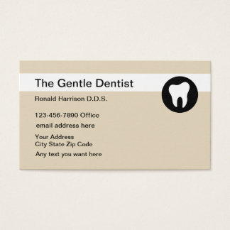 Dentist Office Simple Design Business Card