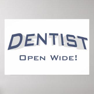 Dentist - Open Wide! Print