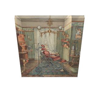 Dentist Operating Room Watercolor Gouache Vintage Canvas Print