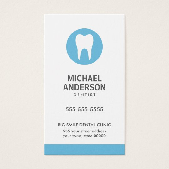 Dentist or dental clinic / assistant modern blue