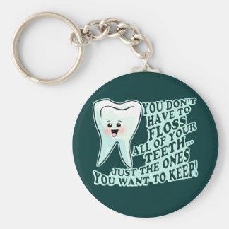 Dentist Orthodontist Periodontist Basic Round Button Key Ring