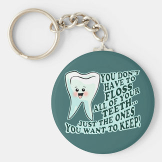 Dentist Orthodontist Periodontist Basic Round Button Key Ring