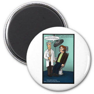 Dentist Peroxide Bluetooth? Funny Gifts Cards Tees 6 Cm Round Magnet
