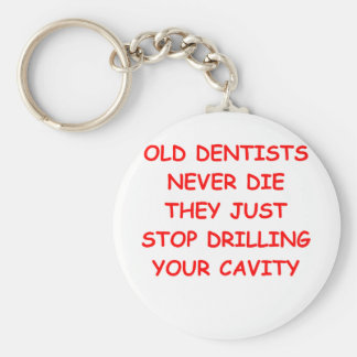 DENTIST.png Basic Round Button Key Ring