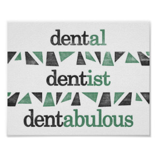 Dentist Poster - Funny Grammar Dental Office Print