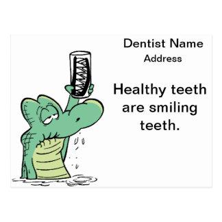 Dentist Reminder Cartoon Card Postcard
