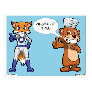 "Dentist Reminder Postcard: ""Check Up Time"" Cartoon Postcard"