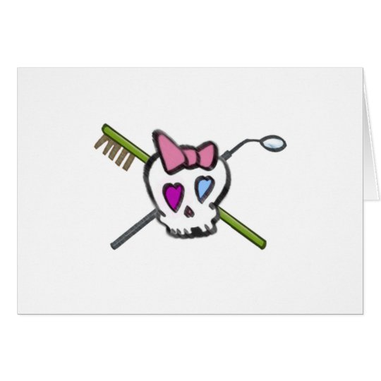 Dentist Skull Card
