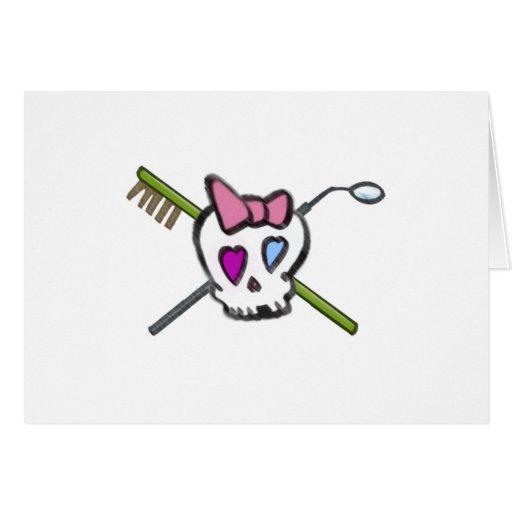 Dentist Skull Greeting Card