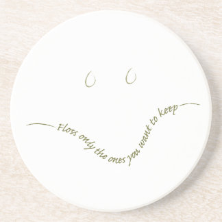 Dentist Smiley Beverage Coaster