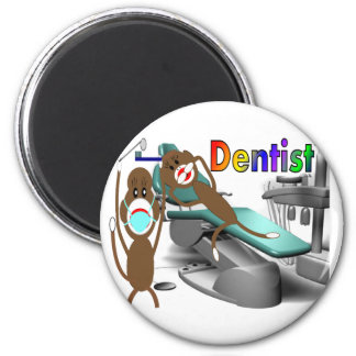 Dentist Sock Monkey Gifts--Unique 6 Cm Round Magnet