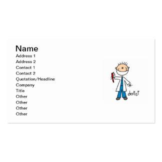 Dentist Stick Figure Business Card