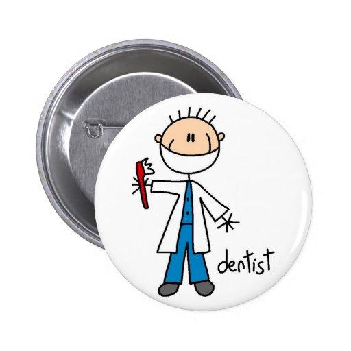 Dentist Stick Figure Button